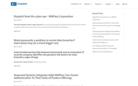 Press - WWPass Corporation