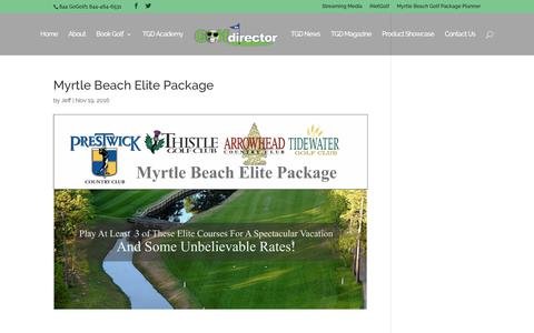 Myrtle Beach Elite Package | TheGolfDirector.com