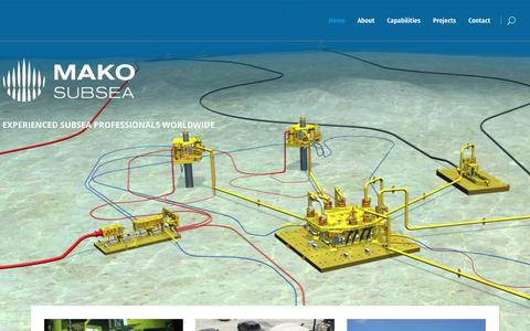 Screenshot of Home Page makoss.com - Subsea Services | MAKO SUBSEA - captured Sept. 29, 2017