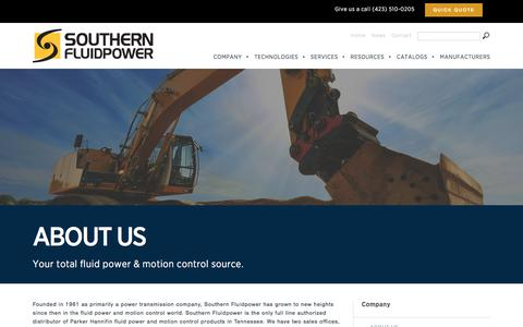 Screenshot of About Page southernfp.com - About Us | Southern Fluid Power - captured Nov. 8, 2017