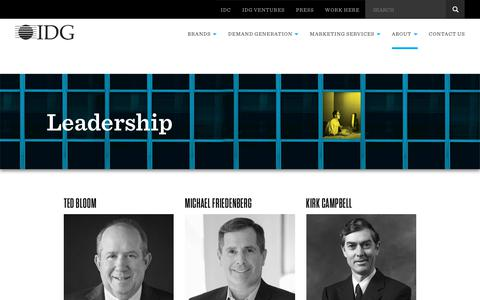 Screenshot of Team Page idg.co.uk - IDG UK : Leadership - captured June 24, 2017