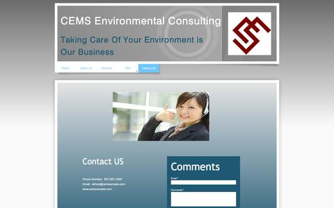 Screenshot of Contact Page cemscanada.com - Contact Us - captured July 9, 2016