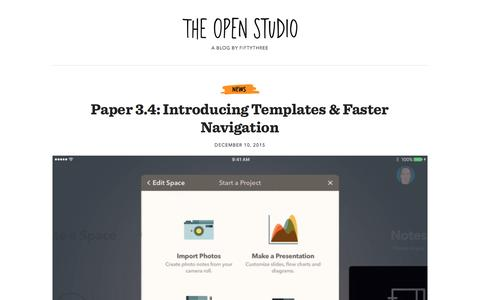 The Open Studio: A Blog by FiftyThree
