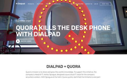 Quora Kills the Desk Phone
