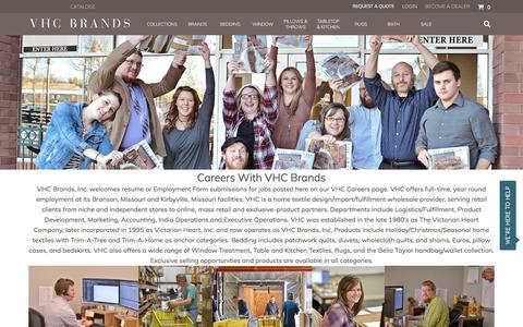 Screenshot of Jobs Page vhcbrands.com - Careers - captured June 12, 2017
