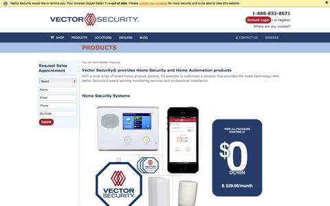 View our Products & Add-ons | Vector Security