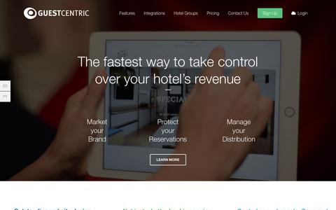 Screenshot of Home Page guestcentric.com - GuestCentric: All-in-one hotel digital marketing - captured Oct. 14, 2015