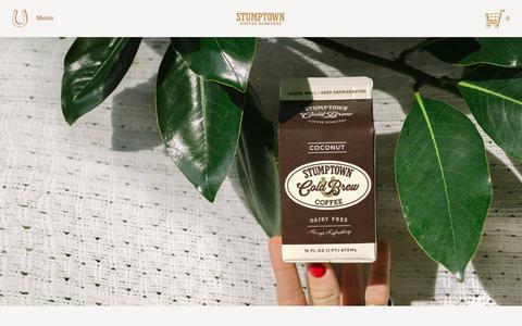 Screenshot of stumptowncoffee.com - Stumptown Cold Brew Coffee   Stumptown Coffee Roasters - captured March 21, 2016