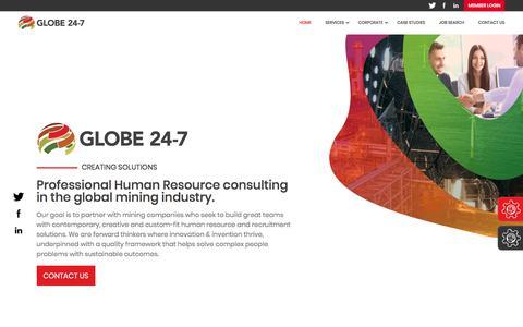 Screenshot of Home Page globe24-7.com - Home | Globe 24-7 - captured July 21, 2018