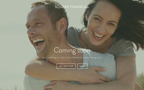 Screenshot of Signup Page squarefinancial.co - Coming Soon — Square Financial - captured Dec. 2, 2016