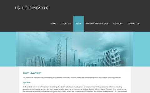 Screenshot of Team Page hsholdingsllc.com - TEAM - HS Holdings - captured July 13, 2018