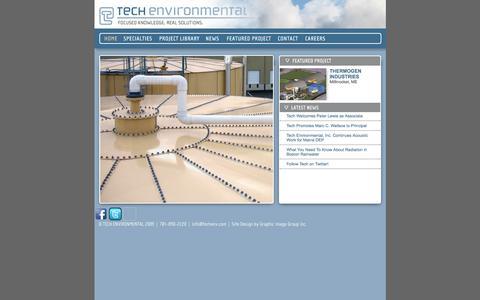 Screenshot of Home Page techenv.com - Tech Environmental - captured Oct. 6, 2014