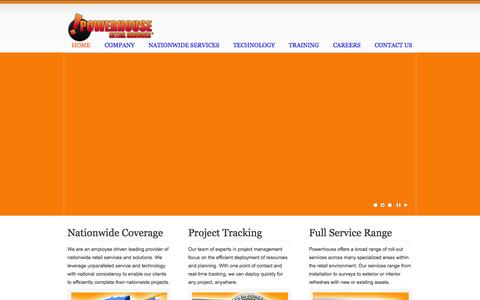 Screenshot of Home Page powerhouseretailservices.com - powerhouseretailservices.com - captured Jan. 26, 2015