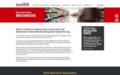Retail Merchandising & Maintenance | Momentum Instore