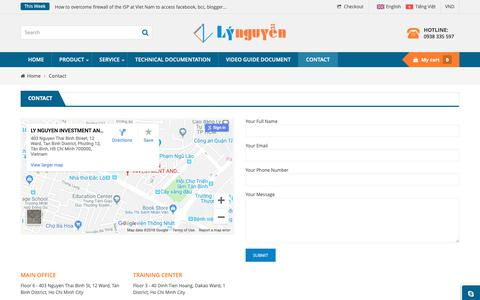Screenshot of Contact Page lynguyen.com.vn - Contact Us - Ly Nguyen Investment And Development JSC - captured Sept. 26, 2018