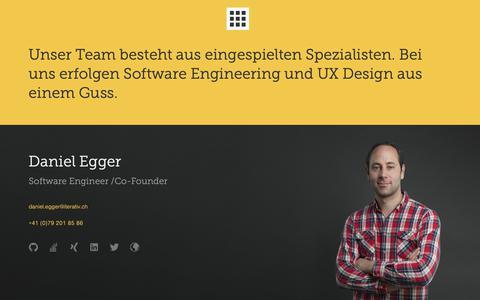 Screenshot of Team Page iterativ.ch - Iterativ Team, die Software Spezialisten - captured Oct. 13, 2018