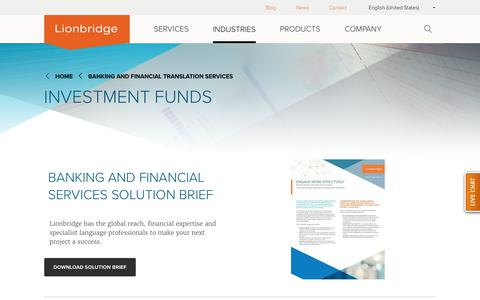 Banking and Finance Translation | Investment Funds