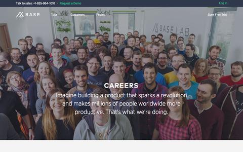Screenshot of Jobs Page getbase.com - Careers | Base CRM Base - captured July 3, 2015
