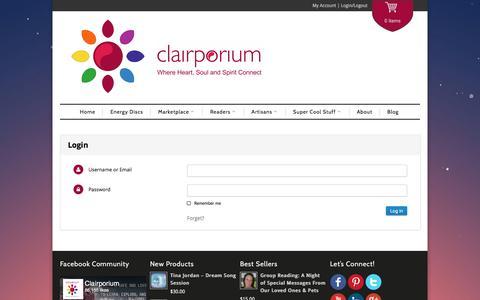 Screenshot of Login Page clairporium.com - Login   Clairporium - captured July 13, 2016
