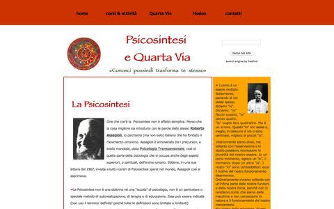 Screenshot of Home Page psicosintesi.org - home - captured Oct. 13, 2015