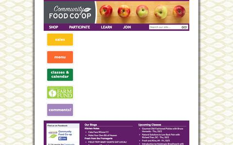 Screenshot of Signup Page communityfood.coop - Join | Community Food Co-op - captured Oct. 2, 2014