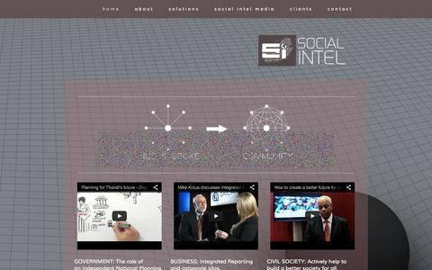 Screenshot of Home Page socialintel.co.za - Social Intel - captured Oct. 7, 2014