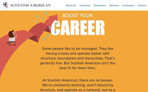 Screenshot of Jobs Page scottishamerican.com - Careers / Scottish American - captured Dec. 1, 2016
