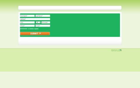 Screenshot of Landing Page trugreen.com captured May 21, 2016