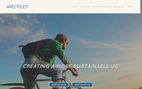 Screenshot of Home Page wrecycleit.com - WRECYCLEIT - Home - captured Sept. 26, 2014