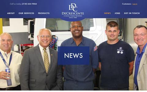 Screenshot of Press Page decrescente.com - News | DeCrescente Distributing Company - captured Feb. 8, 2016