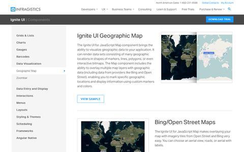 Screenshot of Maps & Directions Page infragistics.com - Infragistics Ignite UI for JavaScript Geographic Map Component - captured June 30, 2017