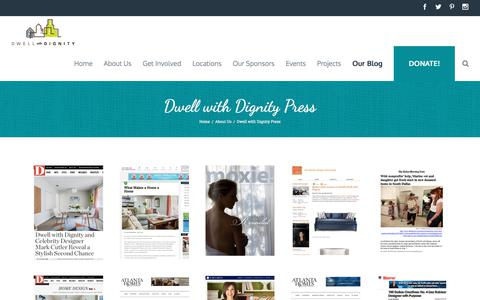 Screenshot of Press Page dwellwithdignity.org - Press   Dwell with Dignity - captured June 5, 2017