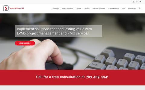 Screenshot of Home Page samosadvisors.com - Home - Samos Advisors, LLC - captured Oct. 2, 2018