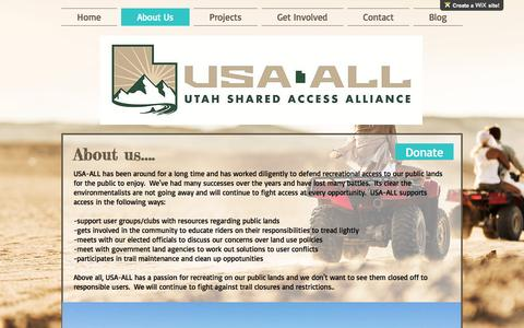 Screenshot of About Page usaall.org - usaall   About Us - captured Dec. 3, 2016