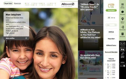 Screenshot of Home Page agbank.az - AGBank — Həyat üçün - captured Jan. 19, 2016