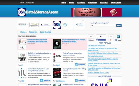 Screenshot of Case Studies Page storageasean.com - Data and Storage News from around South East Asia - captured Oct. 4, 2014