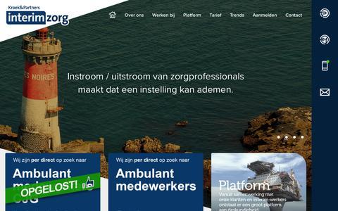Screenshot of Home Page interimzorg.nl - Home | Kroek & Partners - captured Feb. 12, 2016