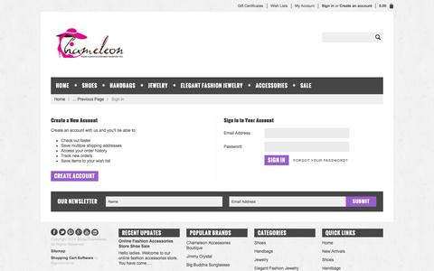 Screenshot of Login Page shopchameleon.com - ShopChameleon - Sign in - captured Oct. 4, 2014