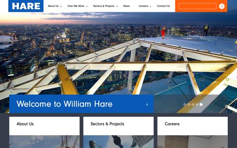 Screenshot of Home Page hare.com - William Hare | Global Leader In Engineered Steel Solutions - captured Oct. 18, 2018
