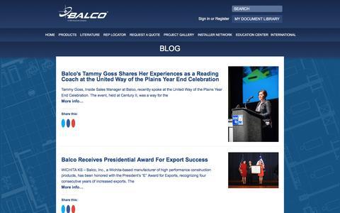 Screenshot of Blog balcousa.com - Blog - Balco - captured Oct. 23, 2017