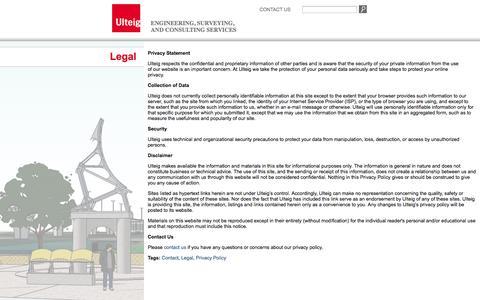 Screenshot of Terms Page ulteig.com - Privacy Policy - captured Sept. 23, 2014