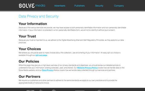 Screenshot of Privacy Page solvemedia.com - Solve Media - captured Jan. 13, 2016