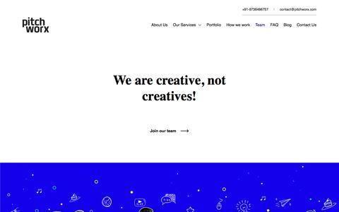 Screenshot of Team Page pitchworx.com - Pitchworx - Team of creative minds - captured Nov. 14, 2019