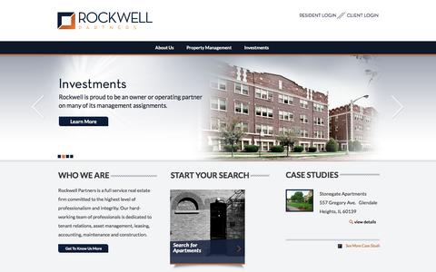 Screenshot of Home Page rockwellpartners.com - Home - RockwellRockwell - captured Sept. 25, 2018