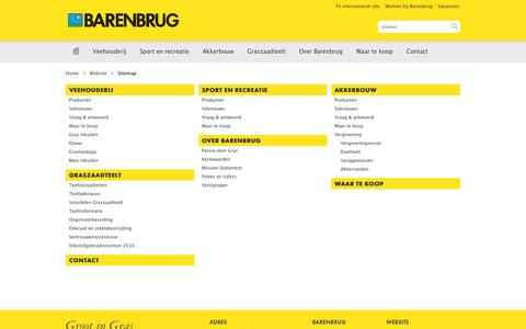 Screenshot of Site Map Page barenbrug.nl - Barenbrug Nederland // Website > Sitemap - captured Oct. 5, 2014