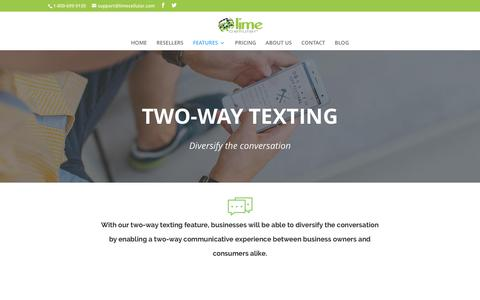 Two Way Texting | Lime Cellular