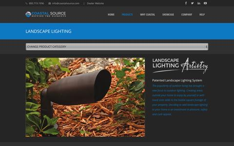 Screenshot of Products Page coastalsource.com - LANDSCAPE LIGHTING - Coastal Source - captured Sept. 30, 2014