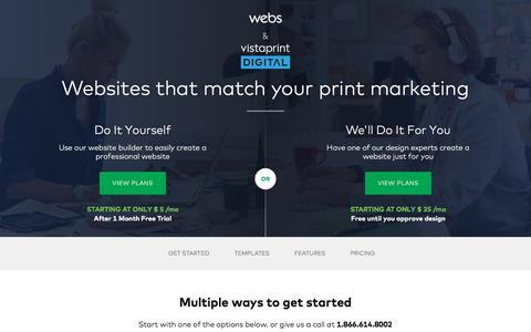 Screenshot of Home Page webs.com - Free Website Builder: Make a Free Website & Hosting | Webs - captured Jan. 12, 2018