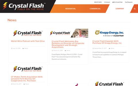 Screenshot of Press Page crystalflash.com - News - Crystal Flash - captured July 22, 2018