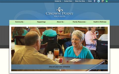 Screenshot of Site Map Page crownpointhealth.com - Crown Point Health Suites - captured Feb. 1, 2016